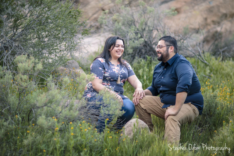 Vasquez Rocks Engagement Photoshoot